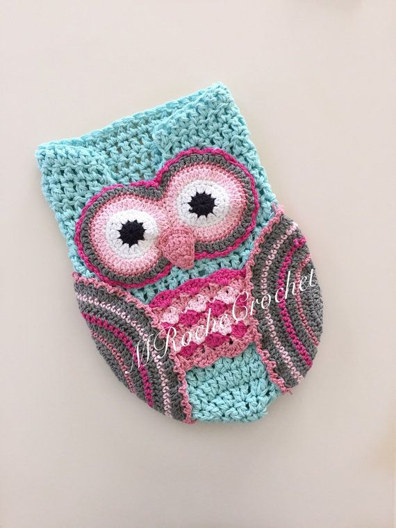 Owl photo prop, owl cocoon, crochet cocoon, newborn photo prop ...