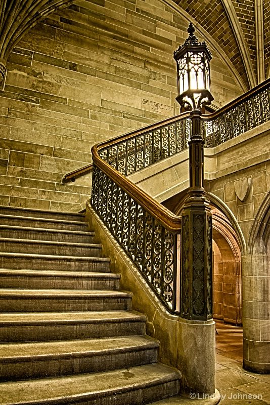 Seminary Stairs, Seminary Building at the University of Chicago