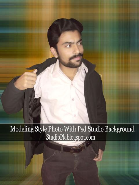 Studio Background in Modeling Style Photo Psd File