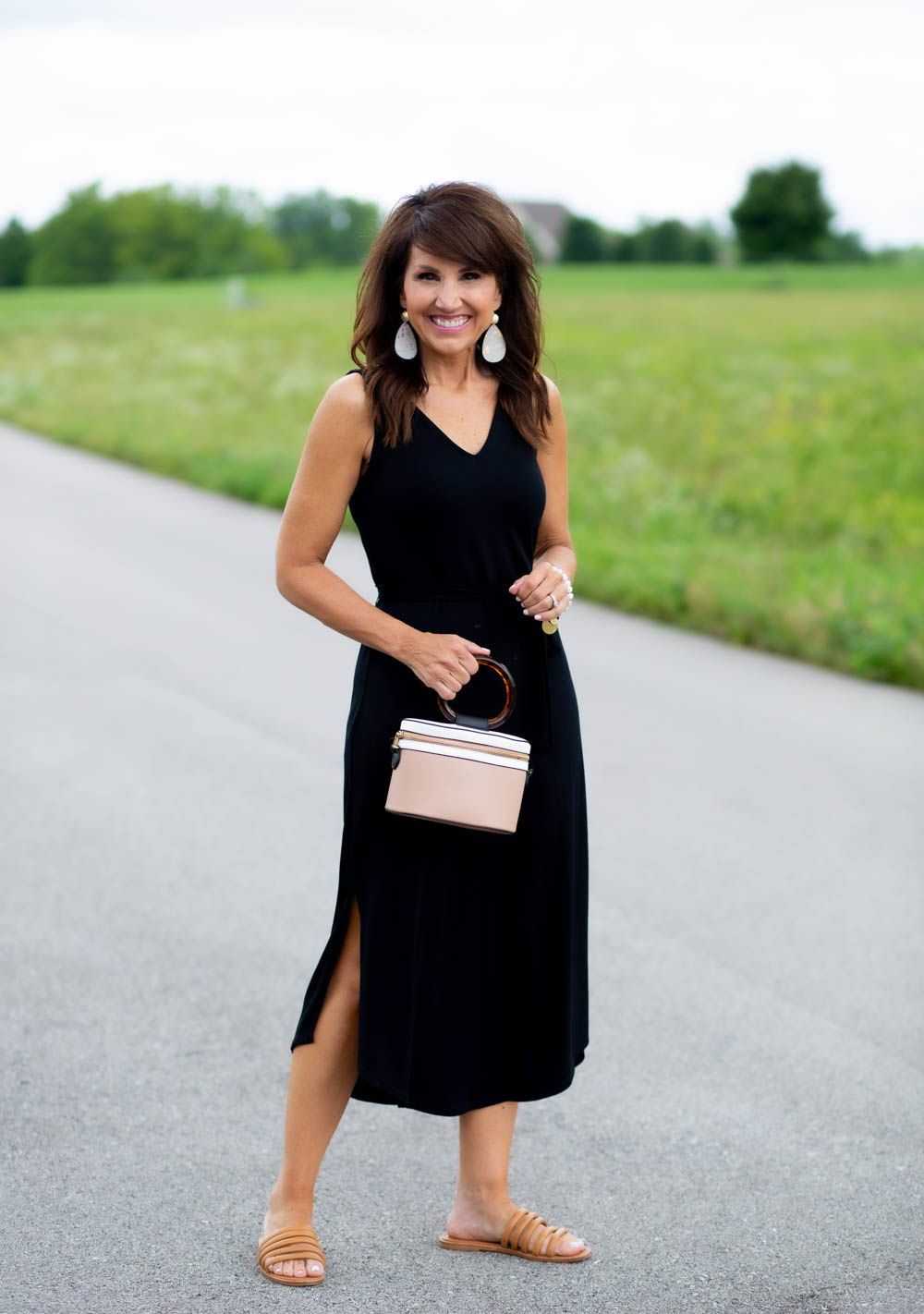 V Neck Maxi Dress From Target Cyndi Spivey Fashion Cyndi Spivey Summer Outfits Women Over 40 [ 1422 x 1000 Pixel ]