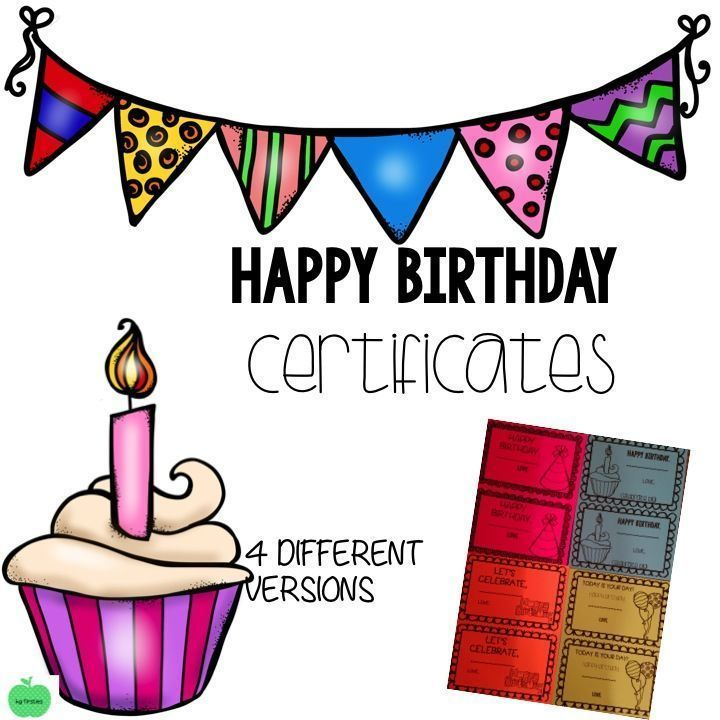 Happy Birthday Certificates Certificate Students And School