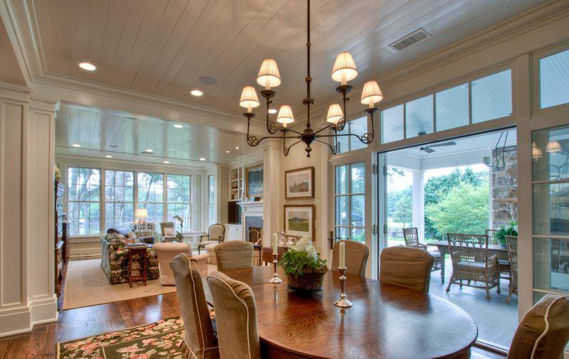 The dining room has a new threeseasonroom option a new