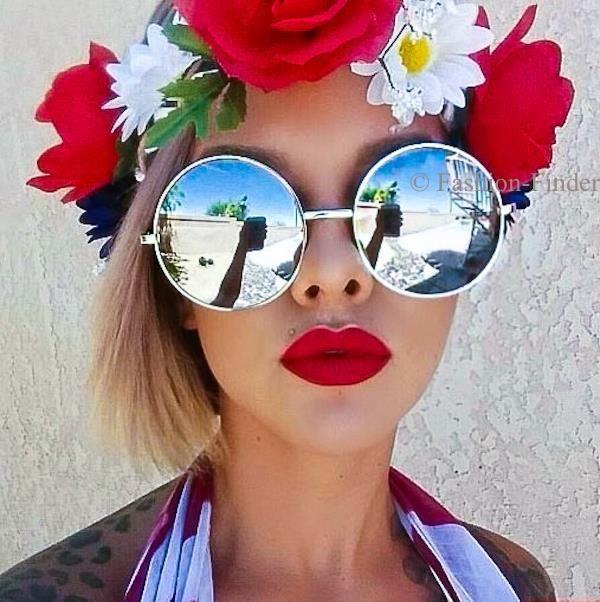 8b8af5001 Retro Boho Round Circle Mirror Lens Xl Large Oversized Big Hot Hippie  Sunglasses
