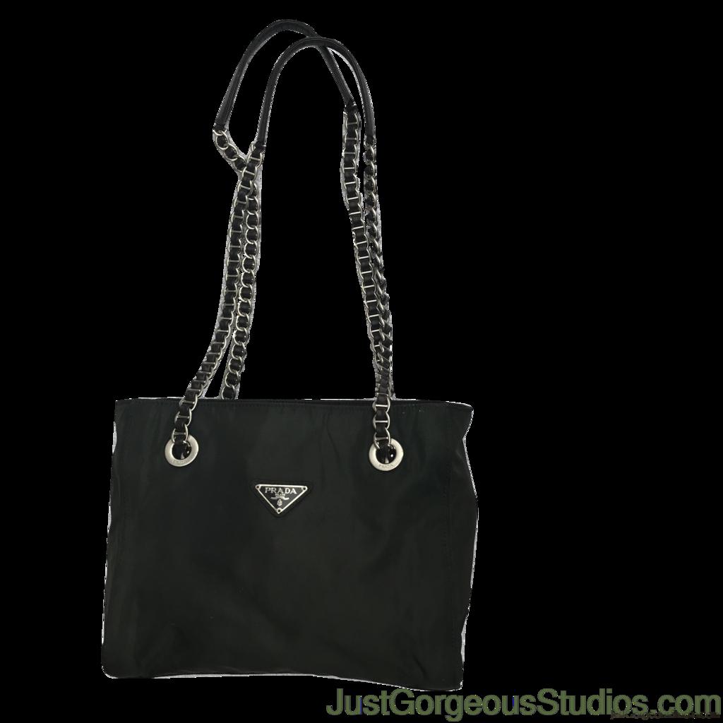 Prada Tessuto Bag With Chain Straps Pinterest Authentic Just Gorgeous Studio