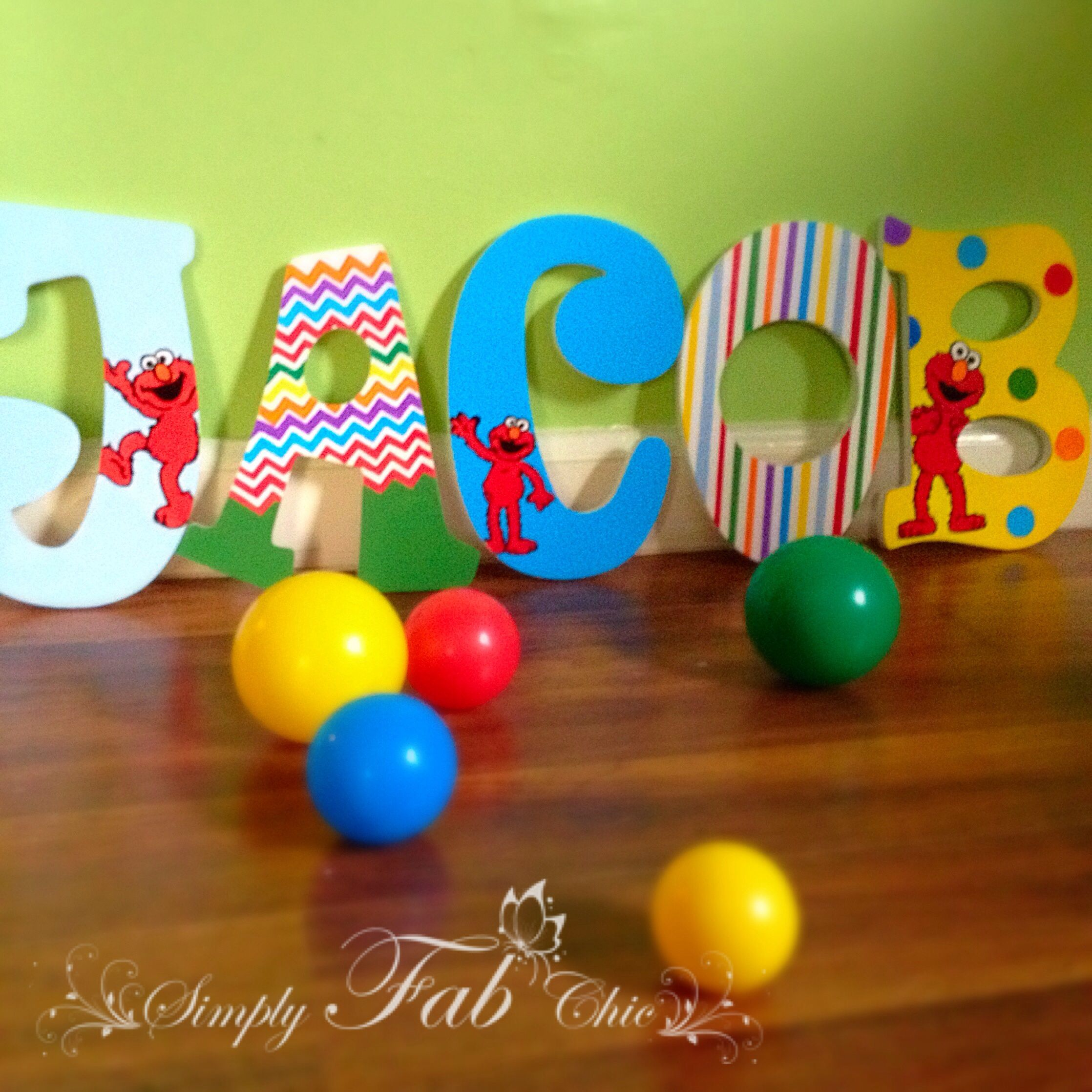 Elmo Sesame Street Personalized Wooden Letter for a birthday or
