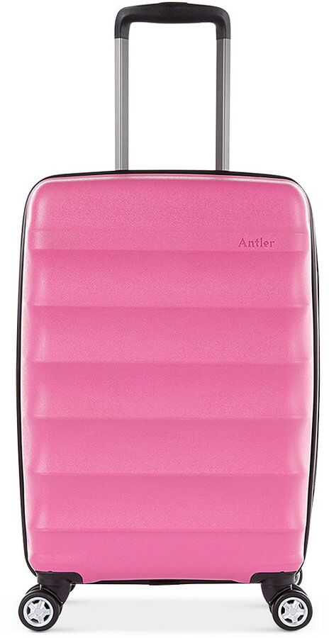 """Antler Juno Dlx 20"""" Hardside Expandable Spinner Carry-On Suitcase"""