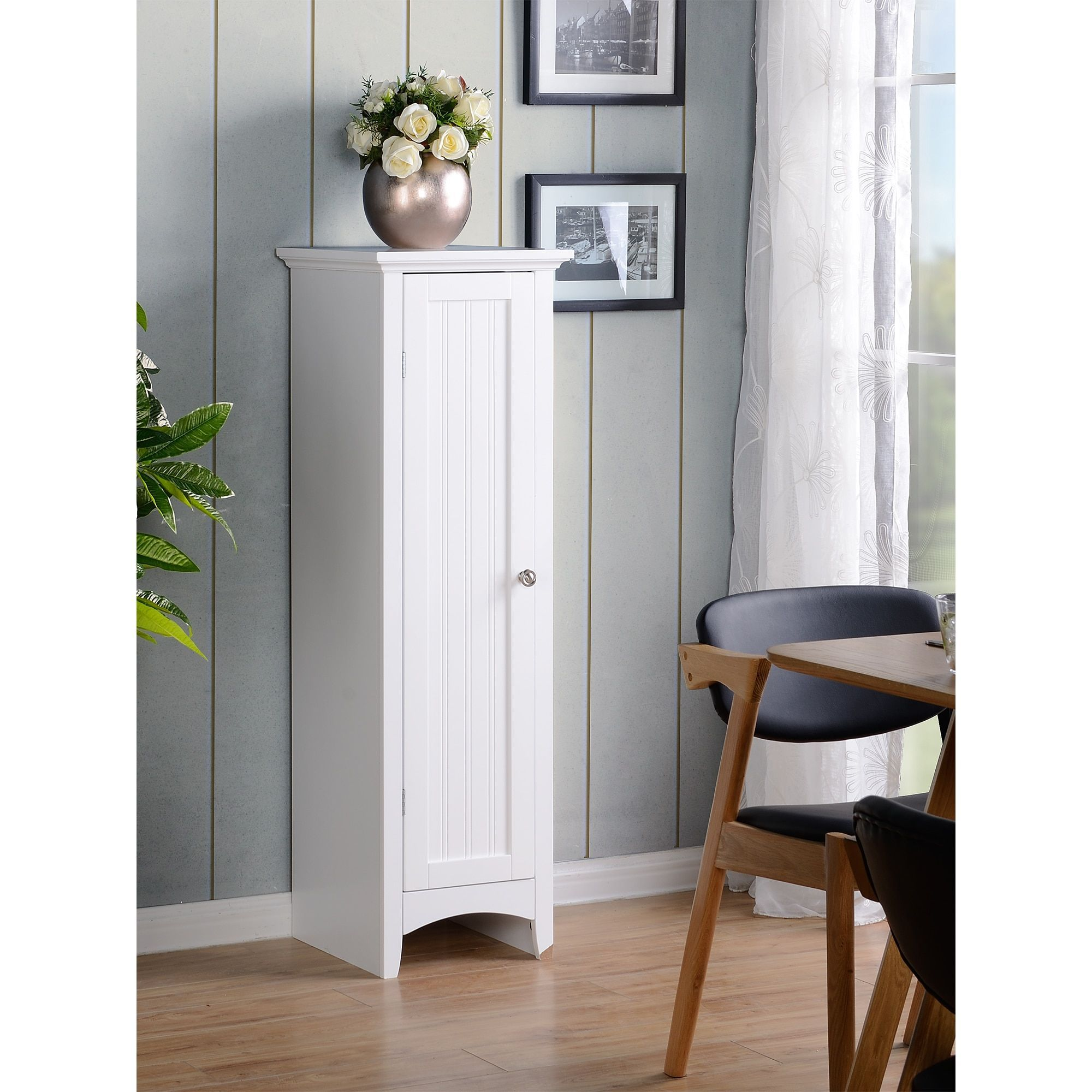 Classics os home and office white one door kitchen storage pantry