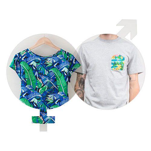 Hawaiian-Print T-Shirts