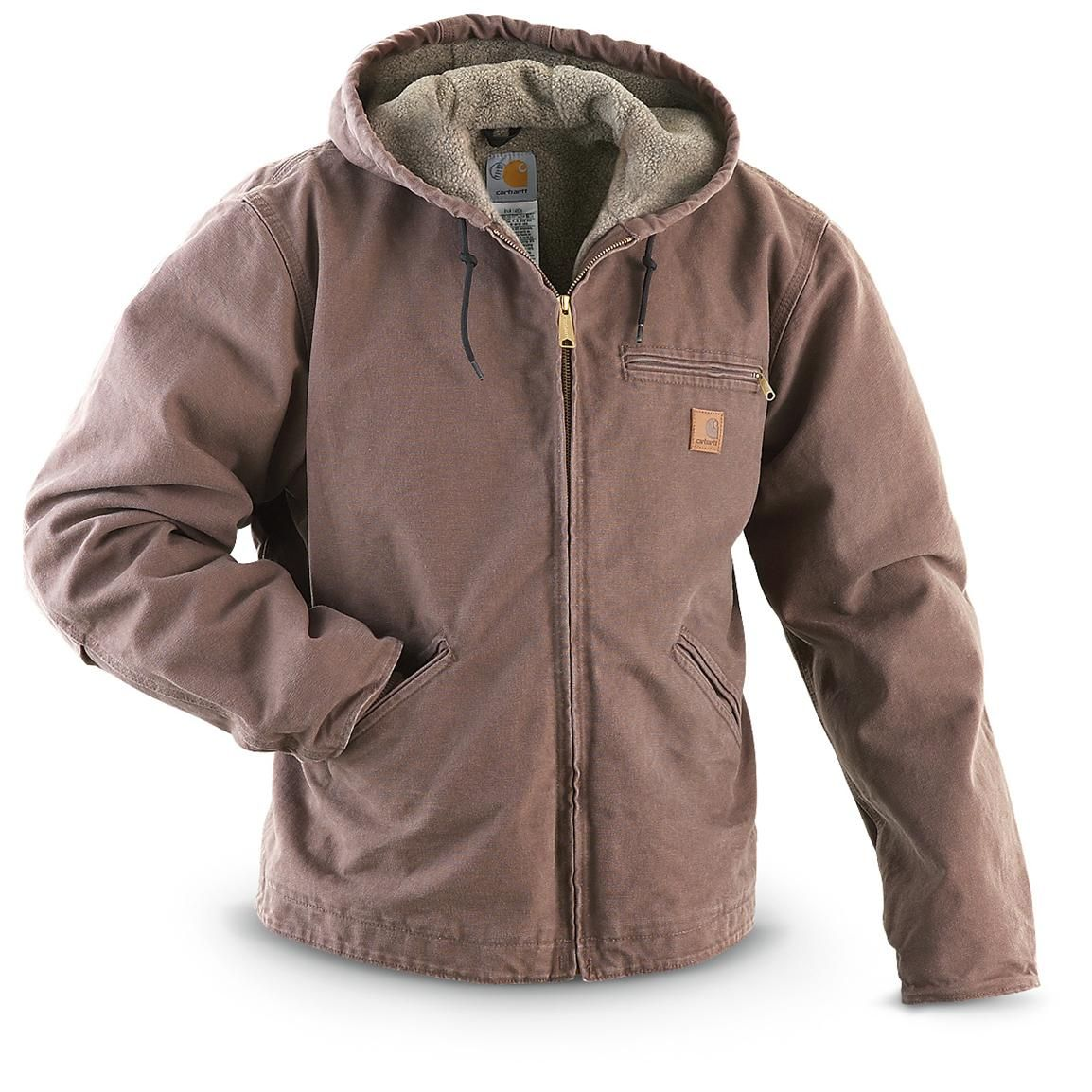 Carhartt® Hooded Sandstone Sierra Jacket. Serious warmth for a serious  savings of BIG BUCKS