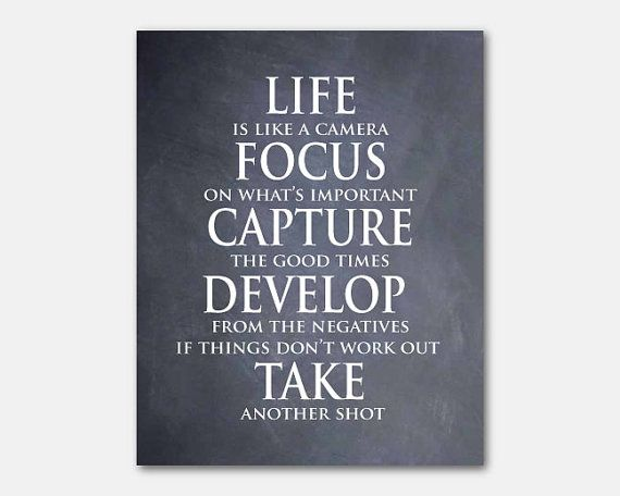 Life Is Like A Camera Focus On What S Important Etsy Quotes About Photography Word Art Quotes Inspirational Quotes Wall Art