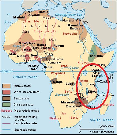 africa map kilwa