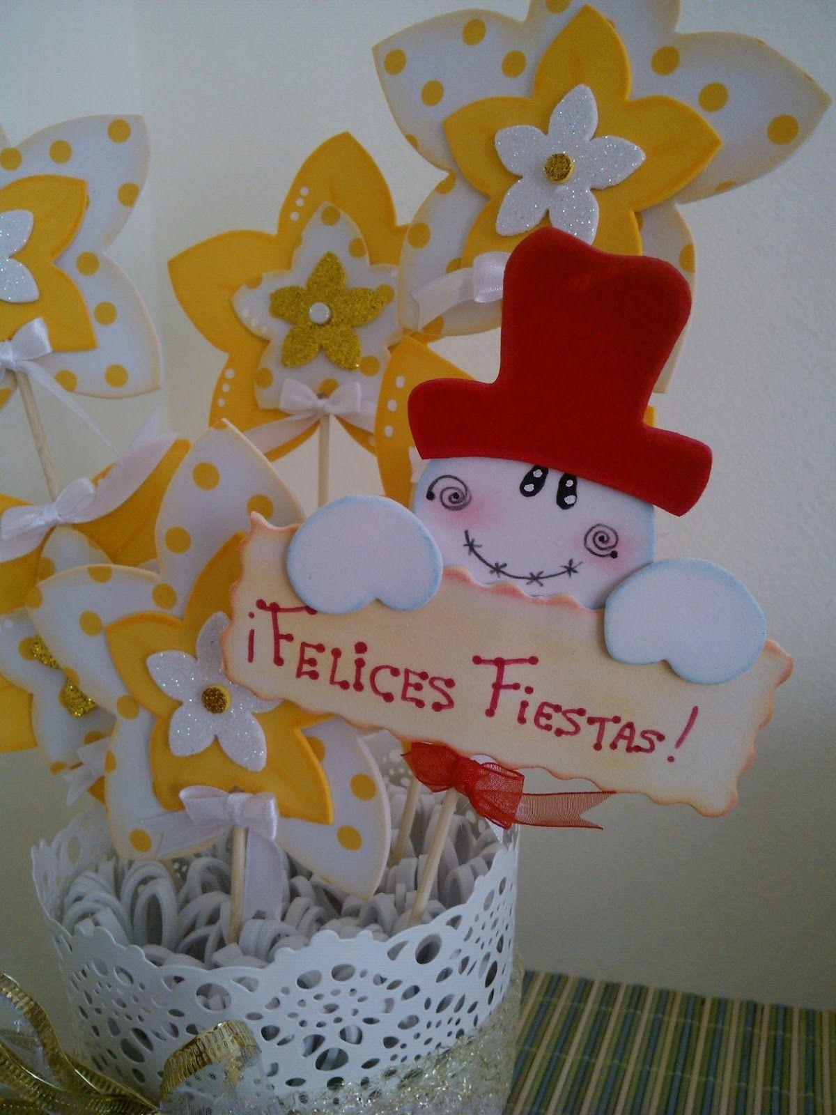 Maceta flores goma eva navidad macetas decoradas flores - Flore de goma eva ...