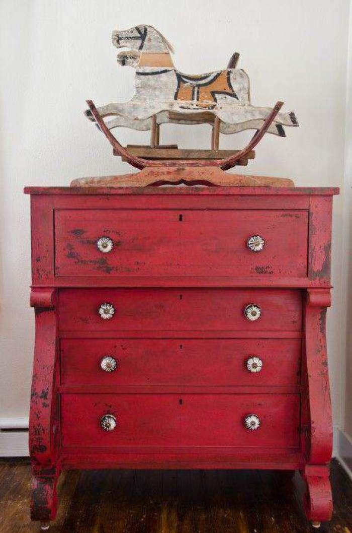 4-Pintar-muebles-rojo-toscana | rojo intenso | Pinterest | Furniture ...