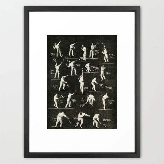 Gentlemen Prefer Tennis Framed Art Print By Heather Landis Framed Art Framed Art Prints Art