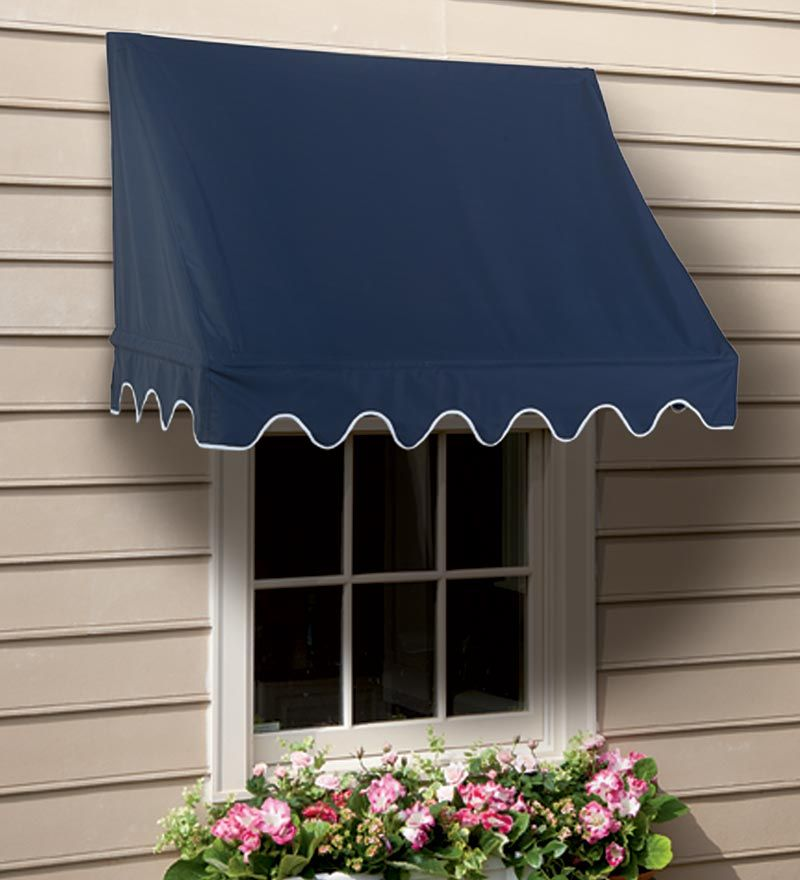 Scalloped Or Straight Edge Window Awnings