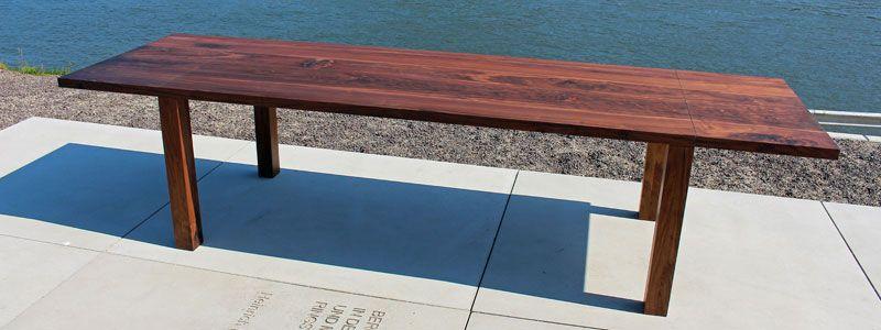 Esstisch Nussbaum Zweiansteckplatten Esstisch Tisch Holz