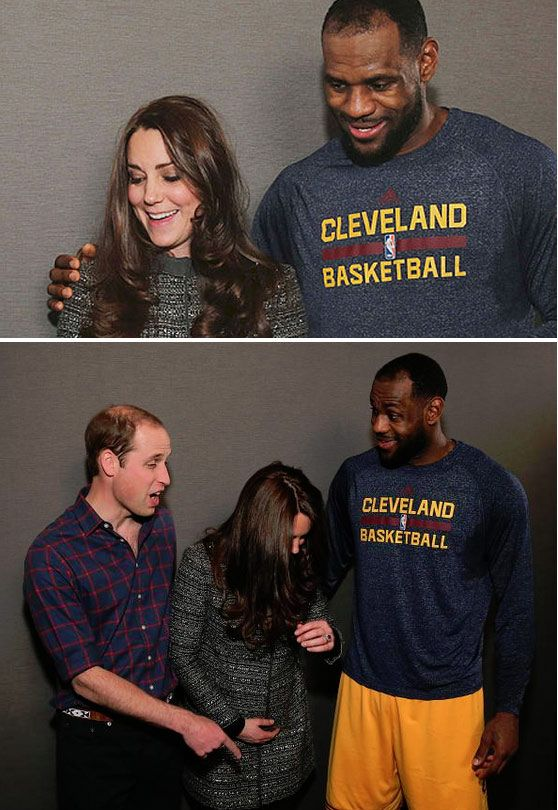 ee0627f6a459 King James breaks royal protocol by putting his arm around Kate ...