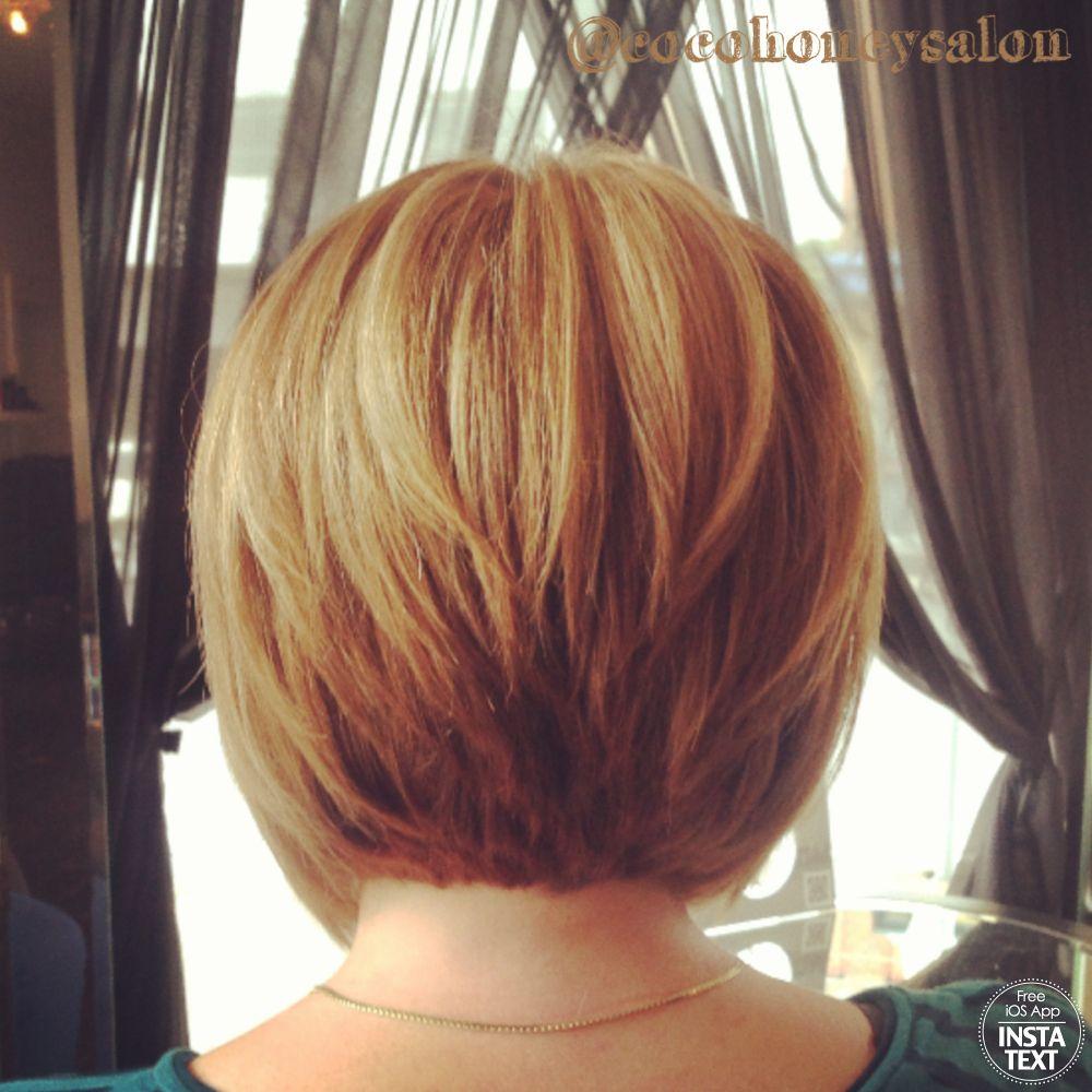 razor cut concave bob, golden blonde base with lightest blonde