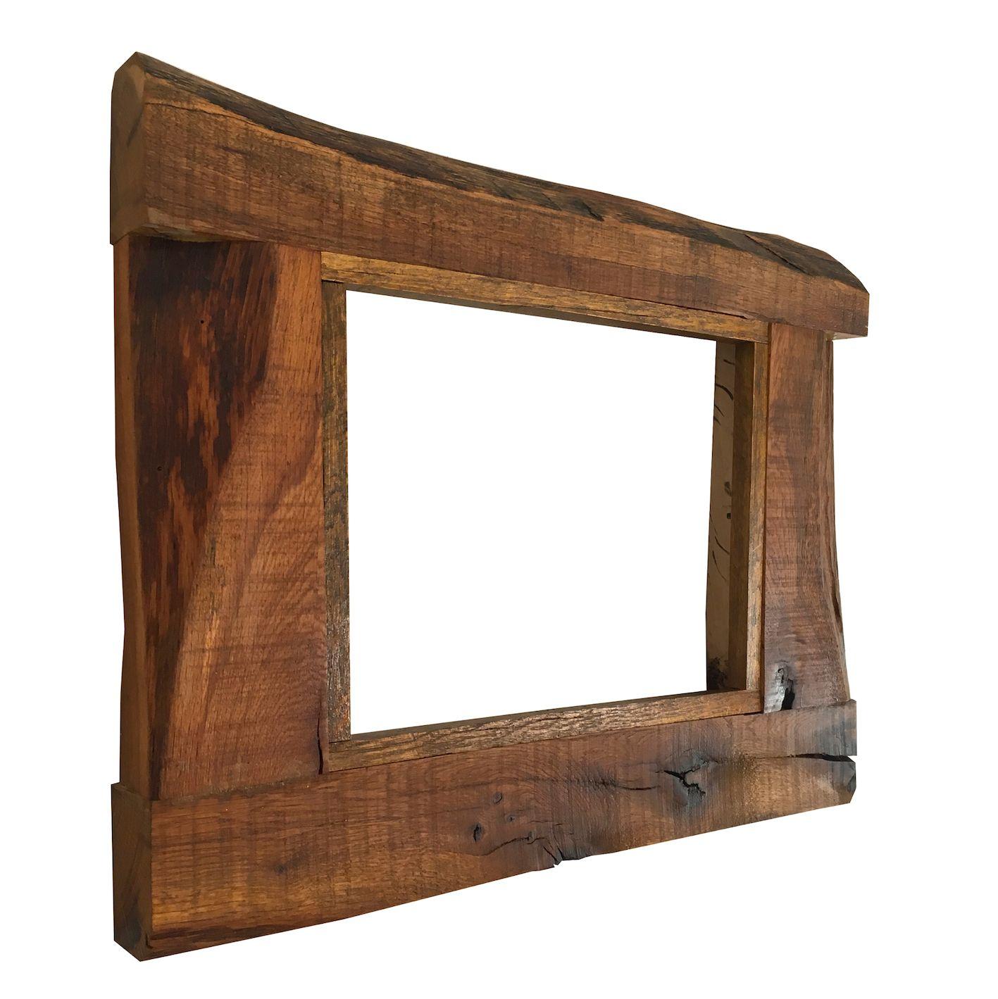 Meşe ağacından el yapımı rustik çerçeve handmade wood frame oak ...