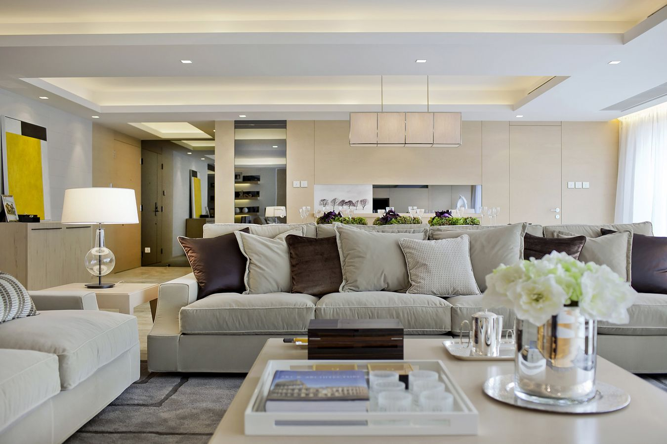 subtle mulberry and cream accessorized modern living steve leung