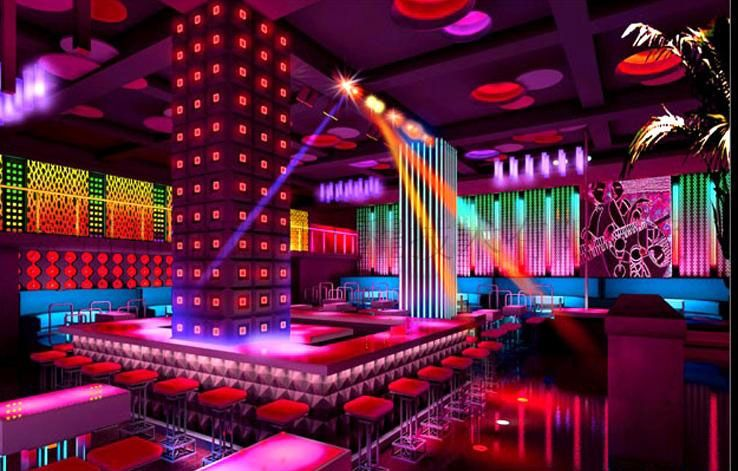 Entertainment place inside led lighting design and project | LED ...