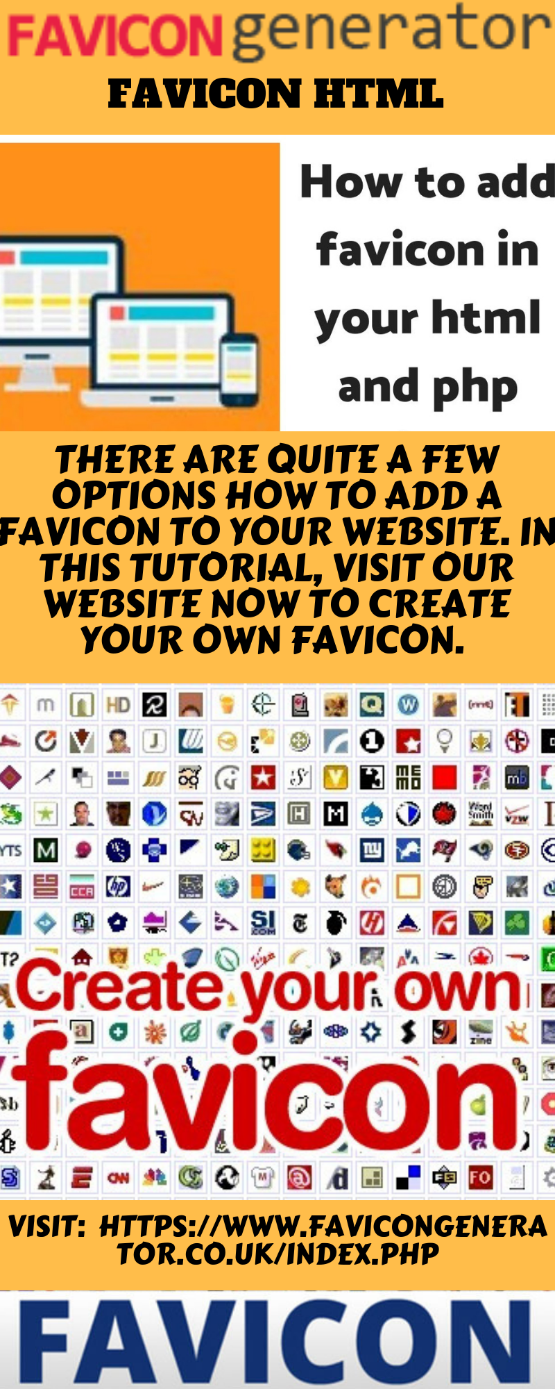 Favicon Html There Are Quite A Few Options How To Add A Favicon To Your Website In This Tutorial Visit Our Website Now Generation Browser Icon Shortcut Icon