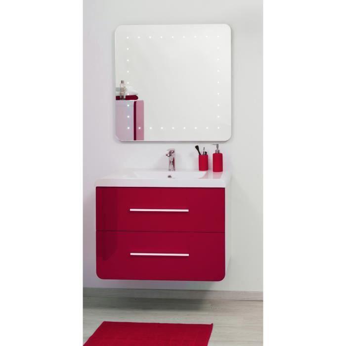 MEUBLE VASQUE - PLAN GINO Salle de bain complète double vasque 81 cm