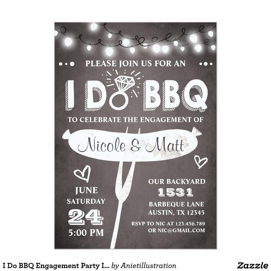 I Do BBQ Engagement Party Invitation Rehearsal   Wedding ...