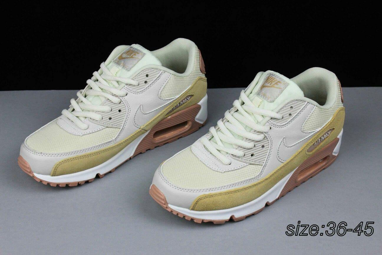 875e22cbf5eae3 78  local gold 36-45 true standard Nike AIR Max90 air cushion sports shoes