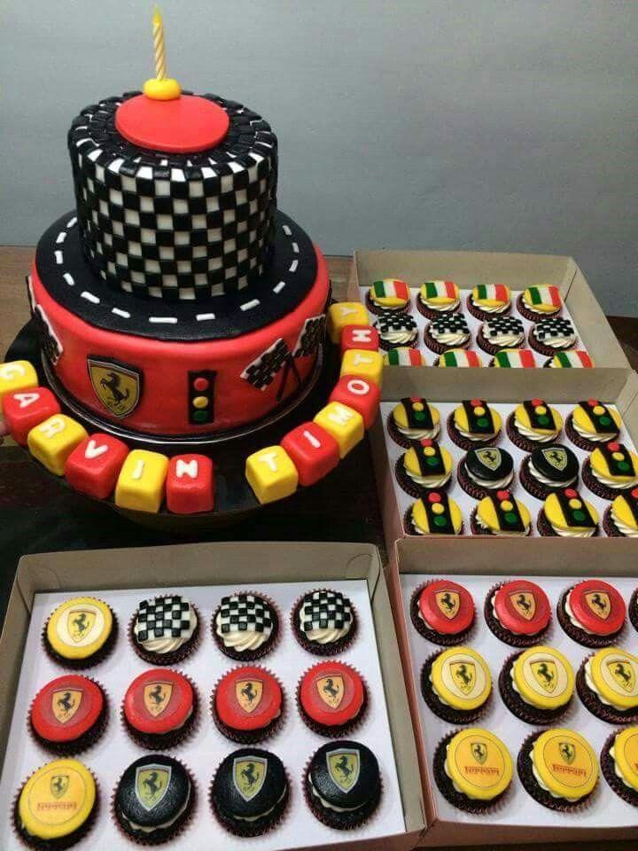 Ferrari Cakes Cupcakes Cars Birthday Cake Ferrari Party