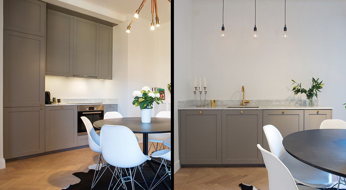 Pickyliving The Color Code Is NCS Y A Warm Gray Inspo KÖK - Warm gray kitchen cabinets