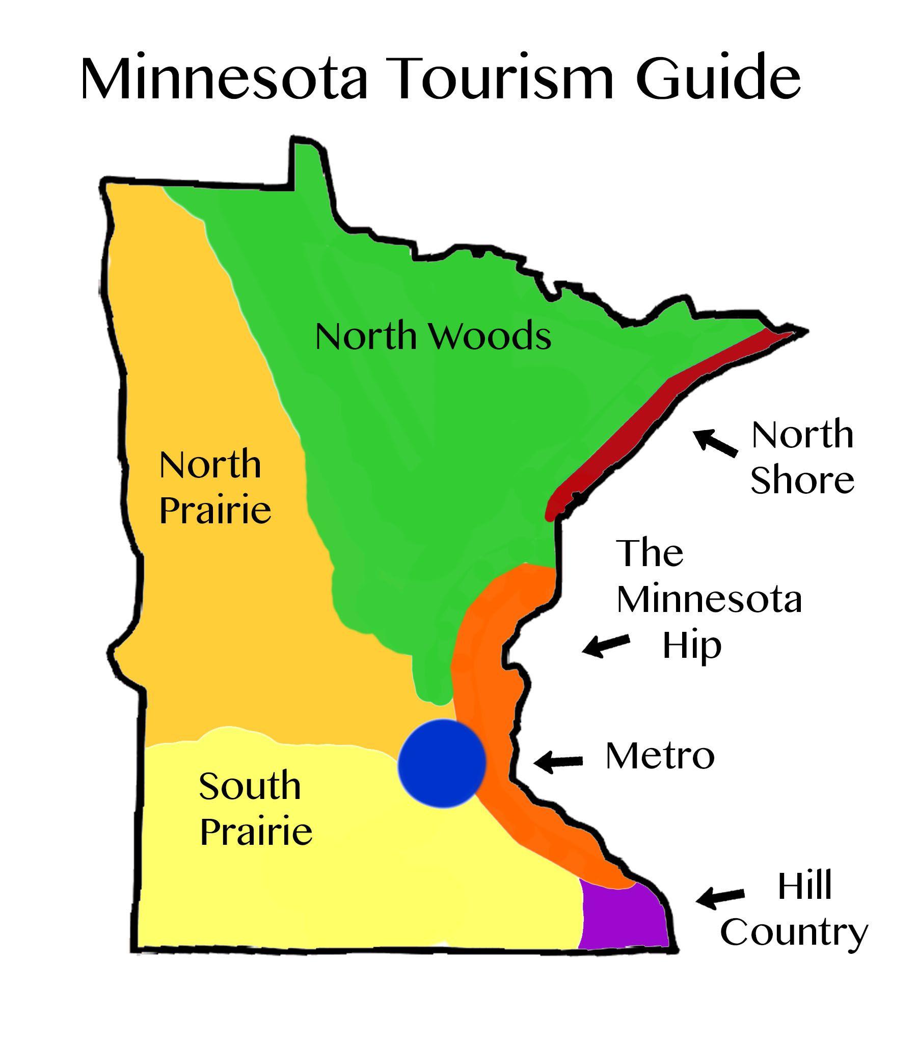 Tourism Map For Minnesota Where To Go For Your Next Adventure