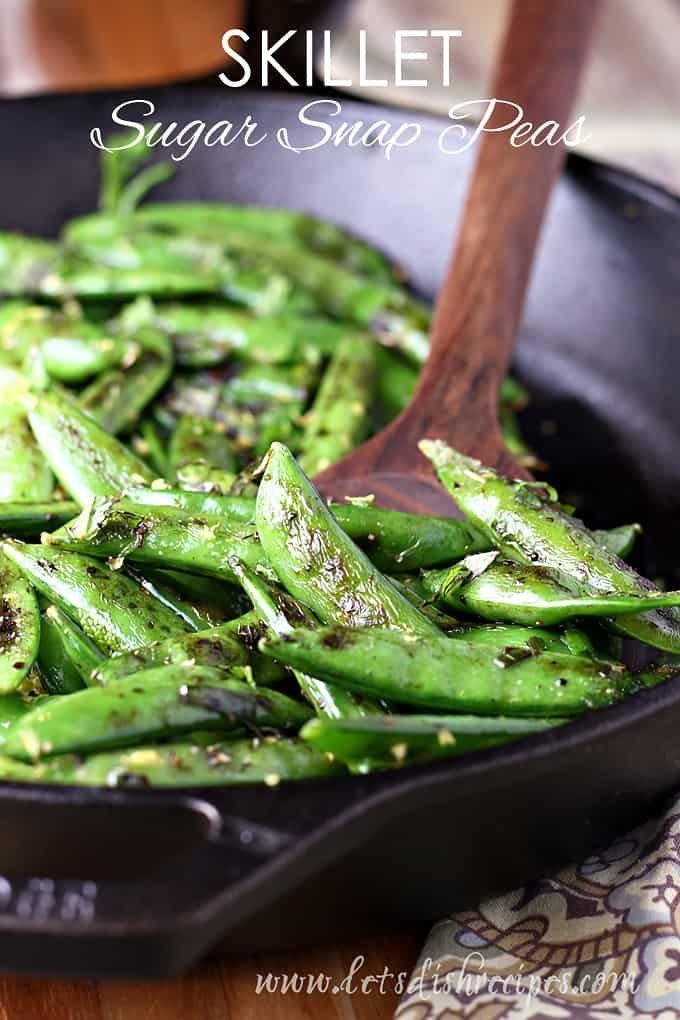 Vegetable Side Dishes Ham: Skillet Sugar Snap Peas