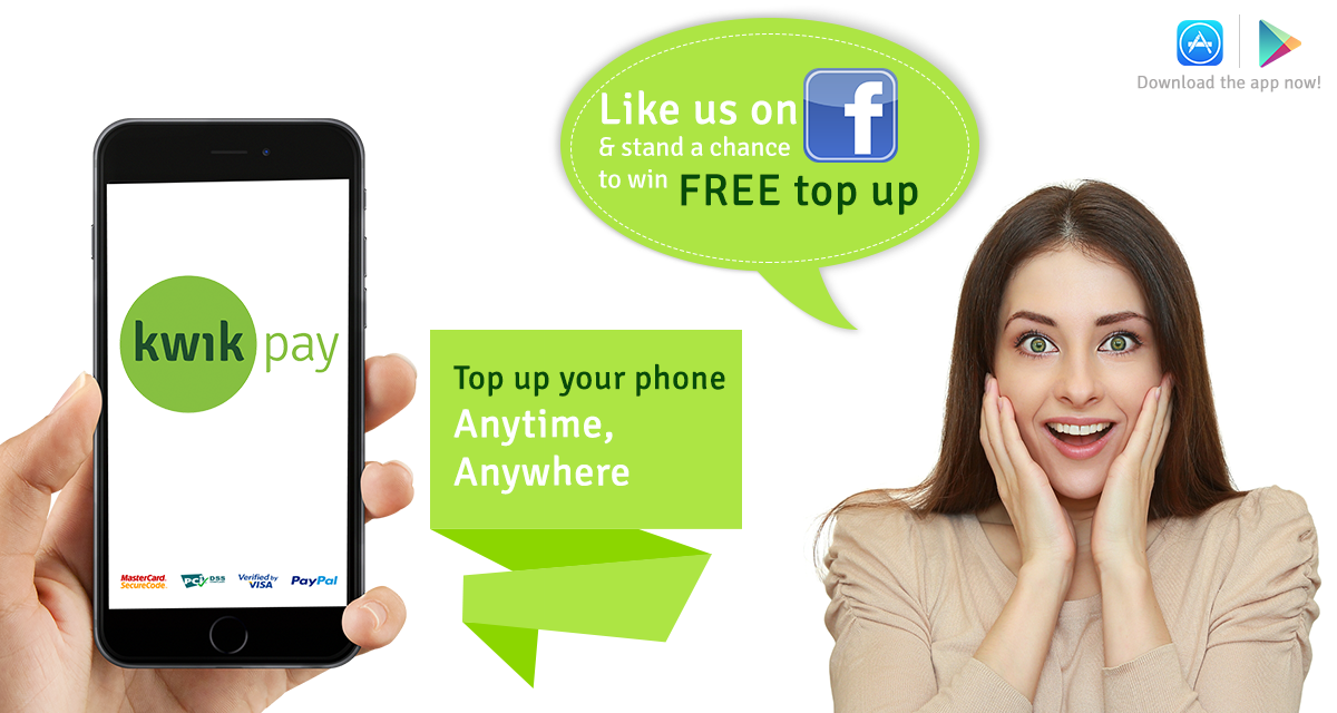 LIKE us on Facebook to win FREE topup!