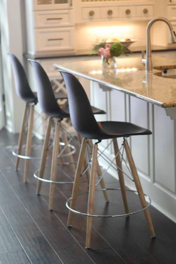 Interior Extraordinary Furniture Black Wooden Bar Stools With White Pad Set Behind Wooden Kitc Bar Stools With Backs Bar Stools Restoration Hardware Barstools