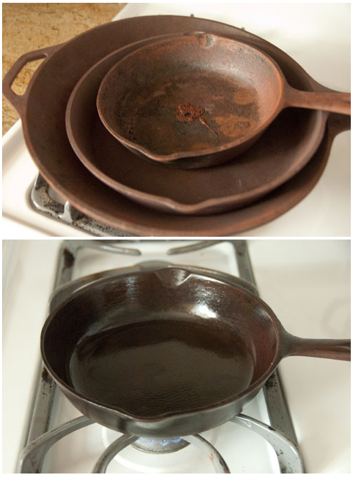 How To Clean And Season An Old Rusty Cast Iron Skillet