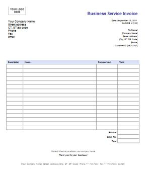 Free Itemized Bill Template Need A Business Invoice Template Here - Free online receipts invoices for service business