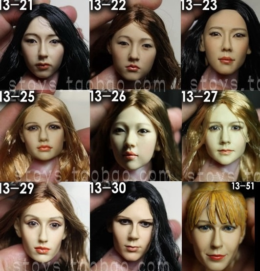 """59.00$  Watch here - http://ali0kg.worldwells.pw/go.php?t=32704268976 - """"1/6 scale female head shape for 12"""""""" action figure doll accessories doll head carved not include the body,clothes and other KM13"""""""