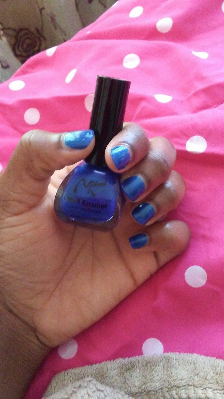 Nicka K\'s Royal Blue sparkling nail polish.   Nail Art   Pinterest