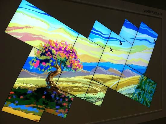 Samsung Comprised This Video Wall With Its Ud22B And Ud46C Models