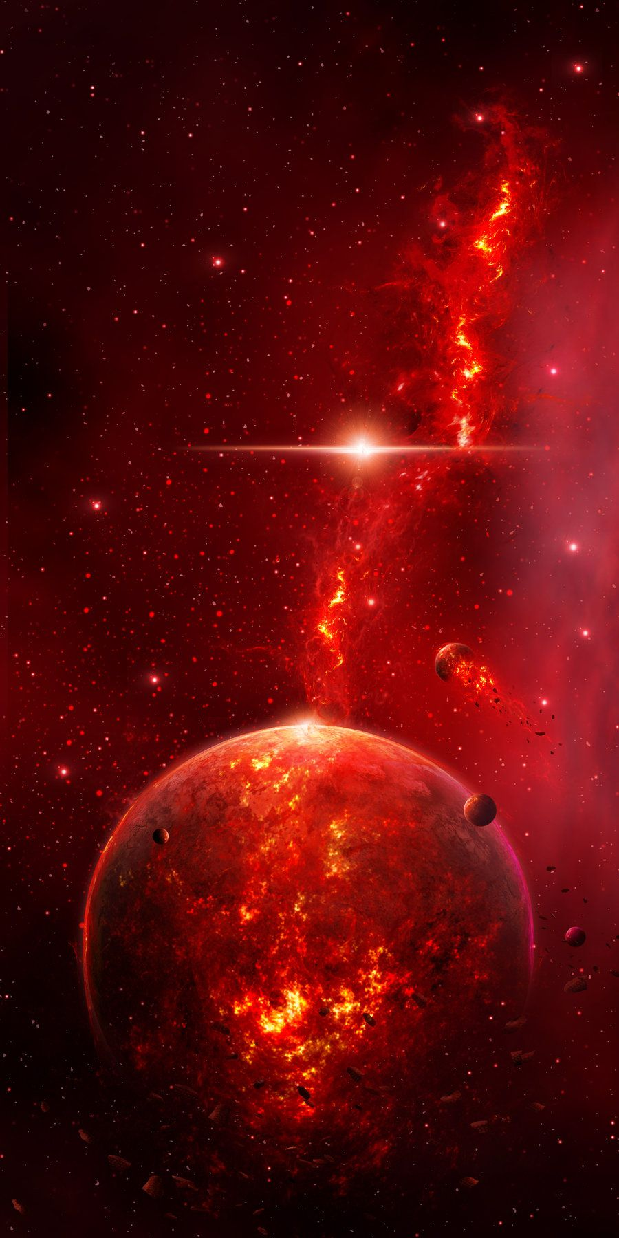 Planet Valkyrie By Charmedy On Deviantart Wallpaper Space Space Art Galaxy Art Galaxy wallpaper red and black
