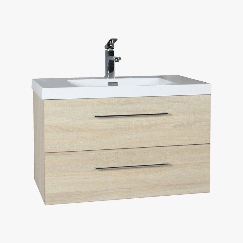 Aquazur meuble salle de bain 2 tiroirs 80cm