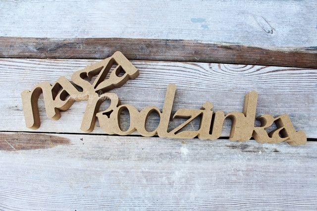 Napis Drewniany Stojacy Nasza Rodzinka Ozdoba 3d Sweety Home Litery I Napisy Home Decor Novelty Sign Decor