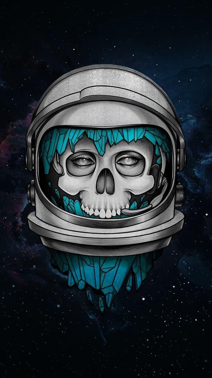 720x1280 Skull, dark, astronaut, art wallpaper Superhero