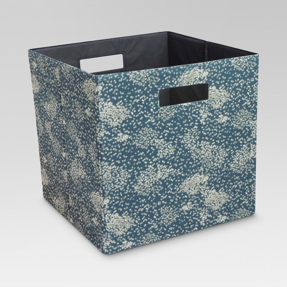 Fabric Cube Storage Bin Blue 13 Threshold Storage Bins Cube Storage Fabric Bins