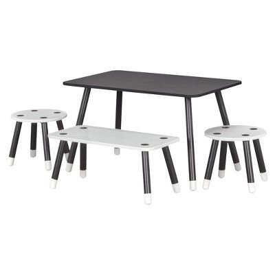 Enjoyable Clover Kids Chalkboard Top Play Table And Bench Set Little Creativecarmelina Interior Chair Design Creativecarmelinacom