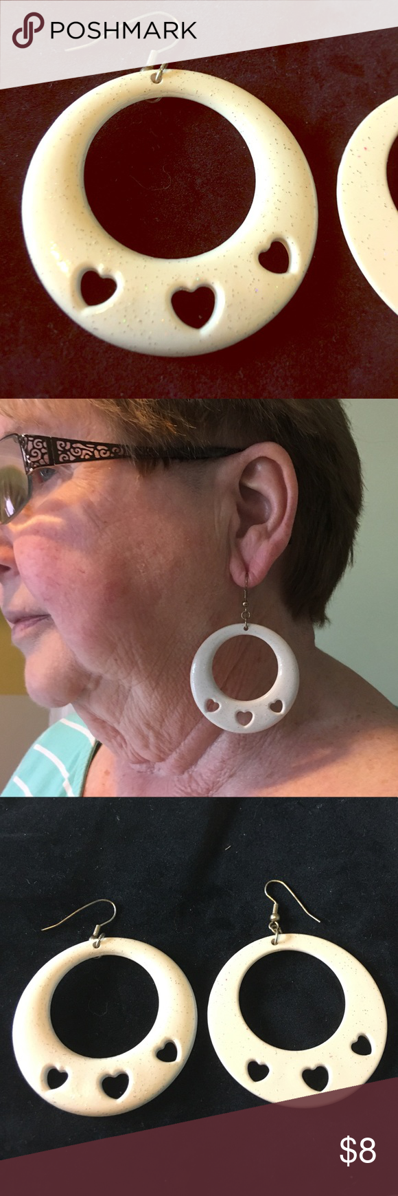 90s nose piercing  Large White Plastic s Hoop Earrings  My Posh Closet  Pinterest
