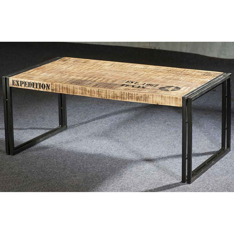 table basse longue style industriel mobilier style industriel table basse. Black Bedroom Furniture Sets. Home Design Ideas