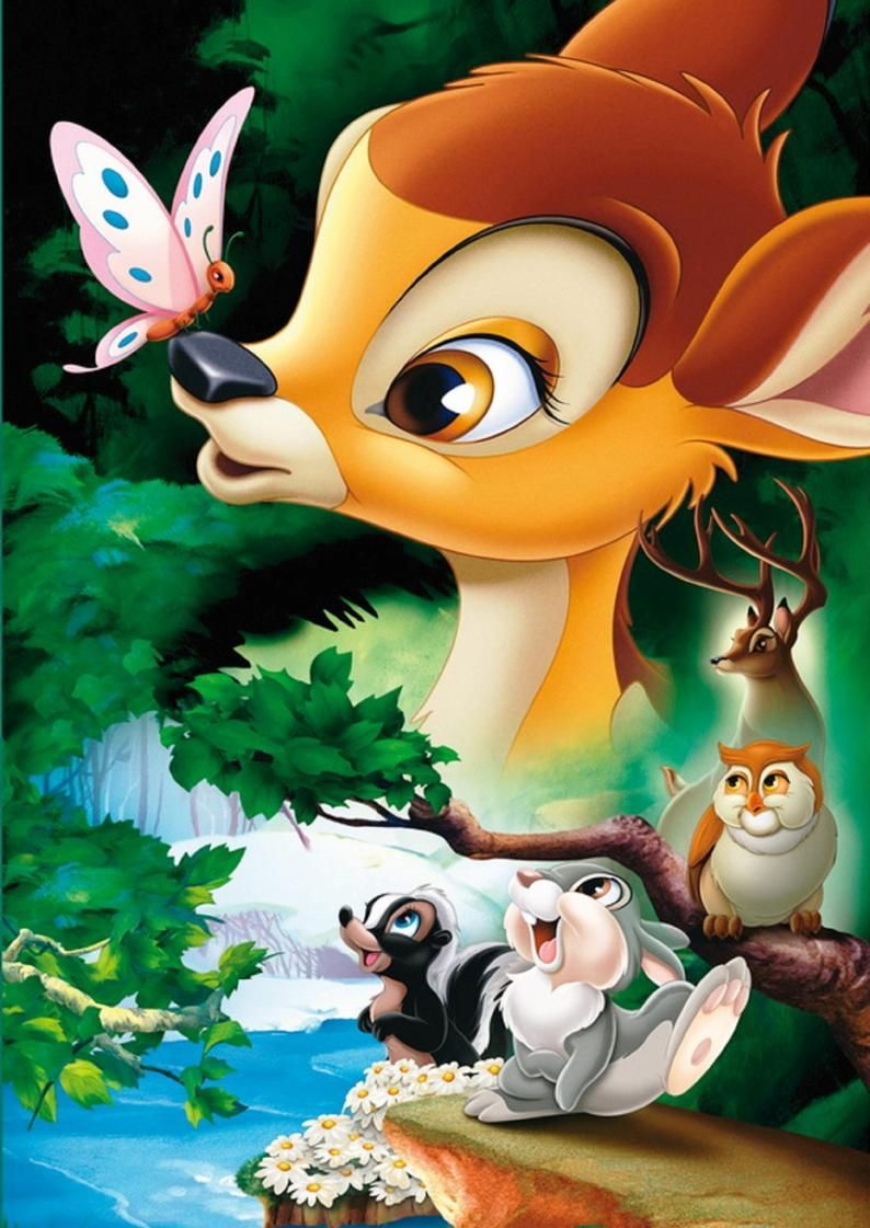 Bambi Cross Stitch Pattern Counted Cross Stitch Chart  Etsy en