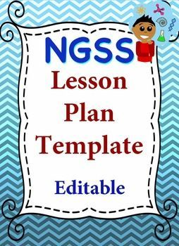 Ngss Lesson Plan Editable Template Middle School Science